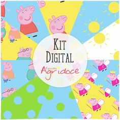 Kit Digital Papéis Peppa Pig
