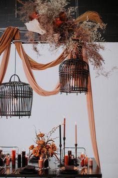 Floral Wedding, Wedding Flowers, Hanging Wedding Decorations, Wedding Painting, Design Floral, Greece Wedding, Autumn Wedding, Event Design, Wedding Bells