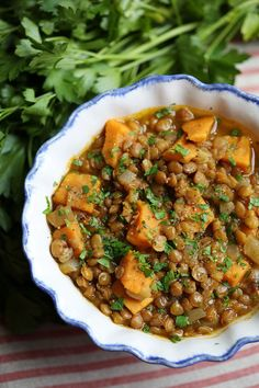 Lentil and Sweet Potato Stew | Eat Yourself Skinny #Vegetarianrecipes