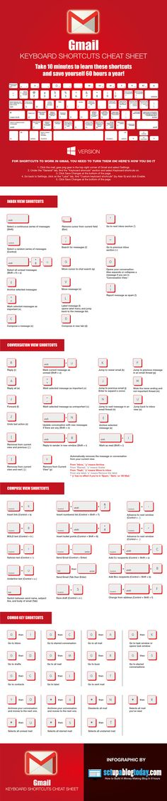 Gmail Keyboard Shortcuts                                                                                                                                                      More