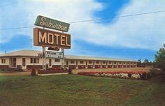 Suburban Motel located on the corner of St and Marion Road, the Suburban Motel was a stopping place for traveling businessmen and families. Back In Time, Back In The Day, Vintage Hotels, Hotel Motel, Great Memories, Route 66, South Dakota, Mid-century Modern, Past