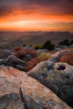 I love this place.  Mount Scott Sunset by Alex Moody  Wichita Mountain National Refuge Oklahoma