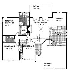 Country homes home plans and garage on pinterest for 1500 sq ft country house plans