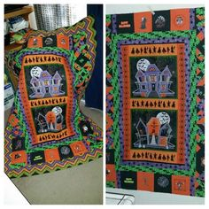 Halloween quilt I made for a Christmas present