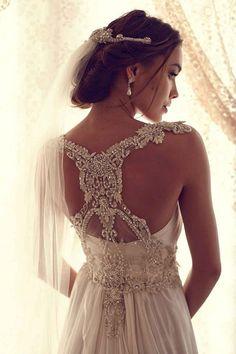 BOHO WEDDING GOWNVintage wedding by JulietBridalBoutique on Etsy