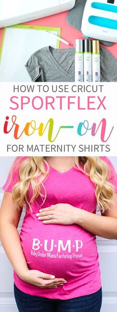 This new stretchy heat transfer (Iron-on) is PERFECT to use for Maternity shirts where you need that little extra stretch!  Check out what other great uses this Cricut SportFlex can be used for!!  #ad #CricutStrongBond #CricutMade #cricut