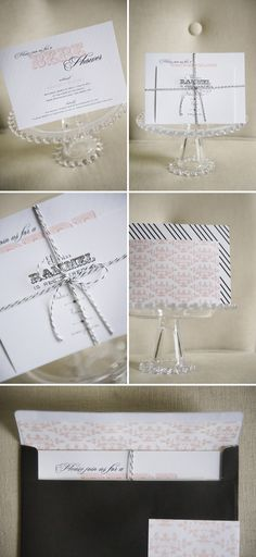"French inspired ""bebe"" shower invitations"