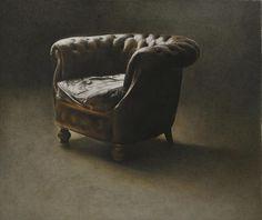 Marzio Tamer - The Studio's chair  Watercolour   Size: 73 x 82 cm