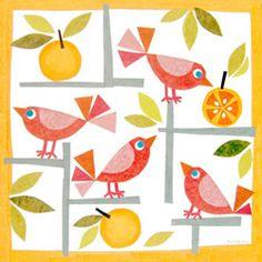 Birds & Oranges by Gale Kaseguma