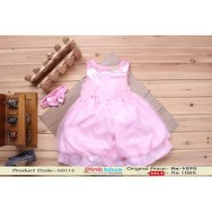 Gorgeous Pink Net Floral Birthday Dress for 2-5 Years Old Baby Girl Outfit by Pinkblueindia