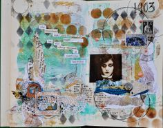 mixed media art journal page by Amy Lassiter