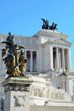El Altar de la Patria, plaza de Venecia, Roma Italia