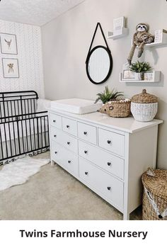 Get inspired by this Coastal Farmhouse Nursery If you are planning to make a gender neutral nursery or baby boy nursery in Coastal Navy Style it is the one to have these amazing images from interior designer Aliesha Porto alieshaporto Farmhouse Nursery Decor, Baby Nursery Decor, Baby Bedroom, Baby Boy Rooms, Baby Boy Nurseries, Baby Decor, Coastal Farmhouse, Ikea Nursery, Ikea Baby Room