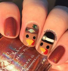 43 Pretty Fall Nail Art Designs For 2019 activities aesthetic appetizers cards clothes ideas cookies day decorations table drinks food for home menu nails party poster recipes rolls sides traditions turkey Star Nail Designs, Holiday Nail Designs, Fall Nail Art Designs, Holiday Nail Art, Colorful Nail Designs, Thanksgiving Nail Designs, Thanksgiving Nails, Thanksgiving Drinks, Thanksgiving Cookies