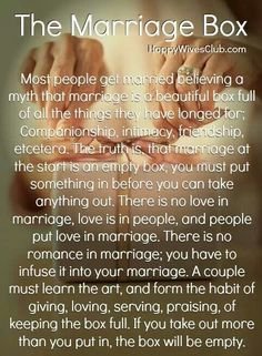 The marriage box...