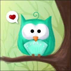 Owly Love by Wolfi-sama