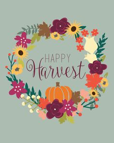 Happy Harvest Printable Freebie from Life of Letters! Autumn Painting, Autumn Art, Apple Watch Wallpaper, Iphone Wallpaper, Halloween Signs, Fall Halloween, Autumn Crafts, Holiday Crafts, Autumn Doodles