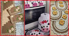 O jogo de cozinha de crochê é um kit que sempre tem muita procura. Que tal produzir esse item e aumentar suas vendas? Veja 50 modelos para se inspirar!