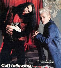 Ian Astbury and Billy Duffy of The Cult, 1986.