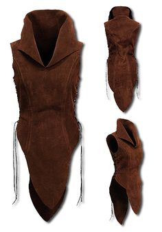 Elf, darkbrown - Armour for Women - Leather Armour. This noble ladyarmour Elf of tear-resistant but soft suede is beautifully designed by the upper legs, a full robe or light armour for women.