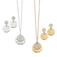 """Sunshine Necklace and Earring Set Necklace, 16 1?2"""" L with 3 1?2"""" extender. Pierced earrings, 1"""" drop."""