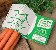 Fresh Picked Produce Labels : Organic Packaging