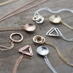 Awesome geometrical minimalist necklace