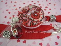 SOinLOVE  Retractable Badge Reel  Id Holder  by BeasBuzzDesigns, $20.00