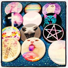 Pastel Goth 12 Pinback Button 3 Series Set by GeekFreakBoutique, $14.00