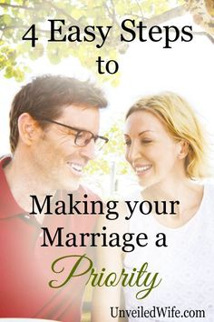 Sometimes life just gets plain busy, doesn't it? Here are 4 east steps to making marriage a priority! Marriage Romance, Marriage Help, Biblical Marriage, Healthy Marriage, Marriage And Family, Happy Marriage, Strong Marriage, I Love My Hubby, Christian Wife