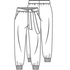Felgekleurde broek (PDF patroon) - Broek - Vrouw - Shop