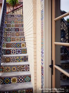 Stairs with Moroccan colorful tiles