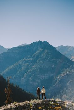 engagement session in Ouray mining town near Denver, CO with photos by Chowen Photography | via junebugweddings.com