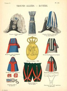 Королевство Бавария. Союзные войска.  Uniformes de I'Armee Francaise 1690-1894 Lienhart & Humbert