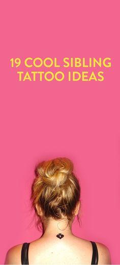 19 Cool Sibling Tattoo Ideas