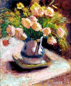 "huariqueje: "" Flowers - Roderic O'conor , c. Irish, oil on paper laid on canvas, x 54 cm. Irish Painters, Old Paintings, Floral Paintings, Irish Art, Post Impressionism, Famous Artists, Flower Art, Life Flower, Word Art"