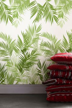 Jungle Leaves Photo Wallpaper from Mr Perswall by Tom Lewis in the wallpaper collection Urban Nature. Customize and order photo wallpapers online. Photo Wallpaper, Wallpaper Ideas, Urban Nature, Order Photos, Living On The Edge, Boho Chic, Boho Style, Jungles, Wallpaper Online