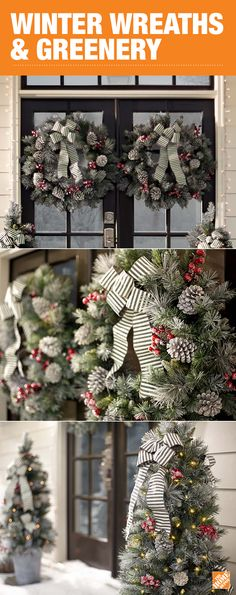 Decorate your home this holiday season with beautiful wreaths and garlands. Whether you're looking for entryway accents, mantel decor or lighted garlands for the stairway, we have everything you need to bring in the holiday spirit. Click through to find the perfect decorations for your home at The Home Depot!