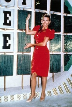 Vanna White: My Worst Outfits Ever! 80s Halloween Costumes, Halloween Dress, Halloween Inspo, Halloween 2020, Red One Piece, Two Piece Skirt Set, Teal Pumpkin Project, Red Frock, Vanna White