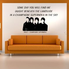 Champagne Supernova Wall Sticker Oasis Wall Art