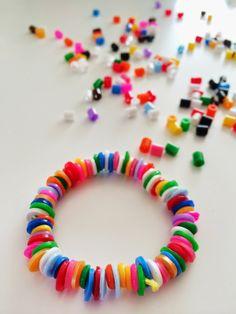 Gesmolten strijkkralen armband