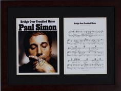 Silent Auction Item Paul Simon autographed sheet music #fundraising #auction https://www.cfr1.org/fundraising-items/