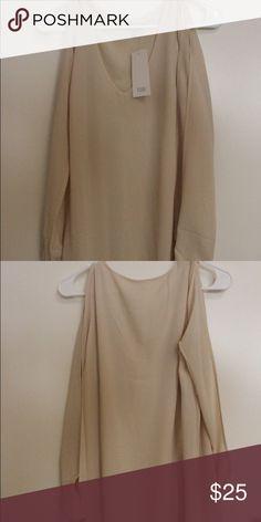 Cream dress Never worn it! Open sleeves on the side Tobi Dresses Midi