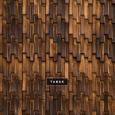 Wood wall coverings in multiple patterns and finishes by DuChateau. I like the weathered look of their Tabak finish on their Wave pattern.