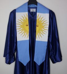 Argentina graduation stole by Diversepride on Etsy