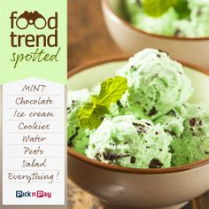is making a comeback, say top food trend reporters, as a go-to flavour for products such as dark chocolate, sweets and bottled water. Chocolate Sweets, Chocolate Ice Cream, Pesto Salad, Bottled Water, Food Trends, Vegetables, Dark, Ethnic Recipes, Top