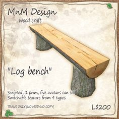 Log bench | Mid-night Melody