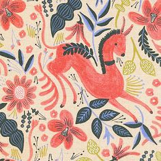 print & pattern nna Bond of Rifle Paper Co. is about to launch a fabric collection with Cotton + Steel. Called Les Fleurs