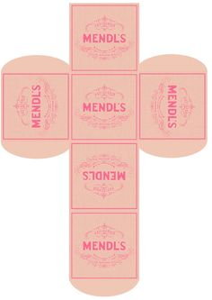 Make your own Mendl's box! Print, cut, fold! #thegrandbudapesthotel