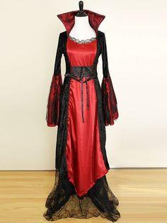 Spider Queen Costume Dress M Gothic Vampire Victorian Lace Velvet Satin Black #Victorian #costume #Gothic
